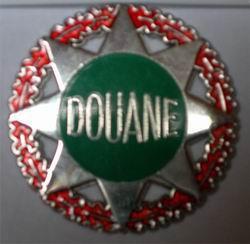 Plaque Fonction Motard Douanes